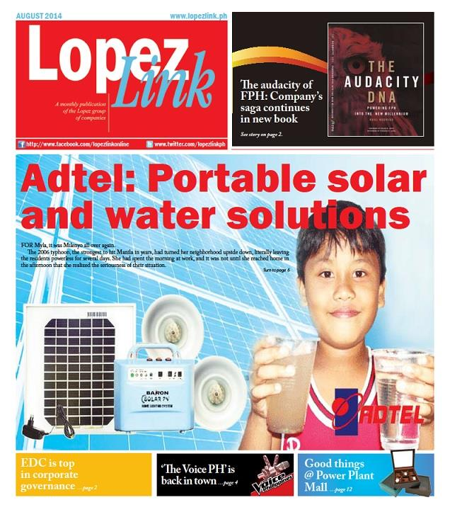 August 2014: Adtel's portable solar and water solutions